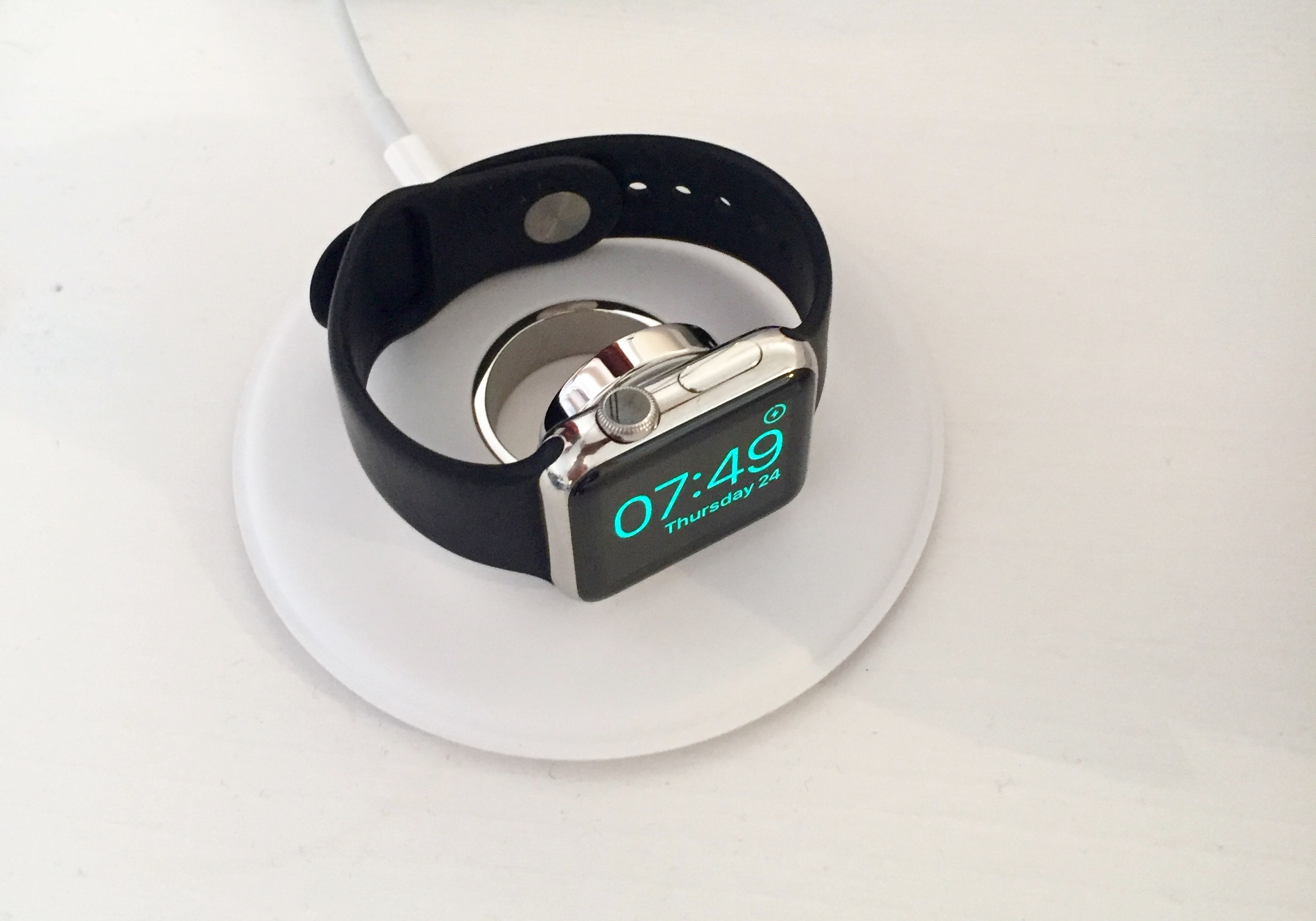 Apple Watch sitting at home charging