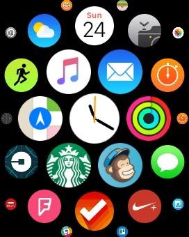 Apple Watch app homescreen